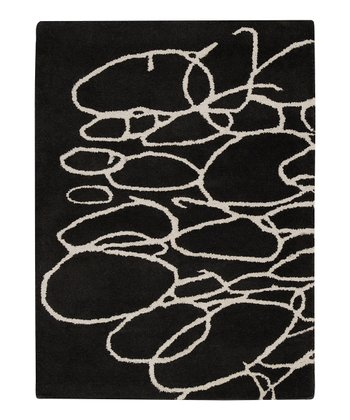 Black & White Stones Signature Wool Rug