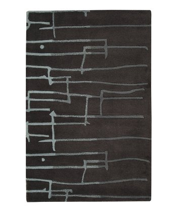 Black & Blue Graduated Signature Wool Rug