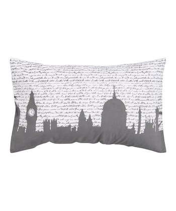 White & Pewter Throw Pillow