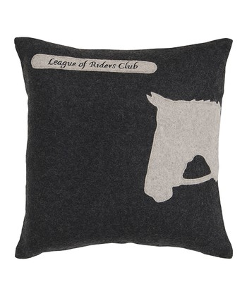 Black & White Horse Pillow