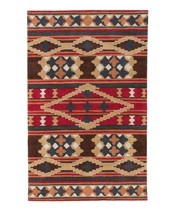 Red & Gold Santa Fe Wool Rug