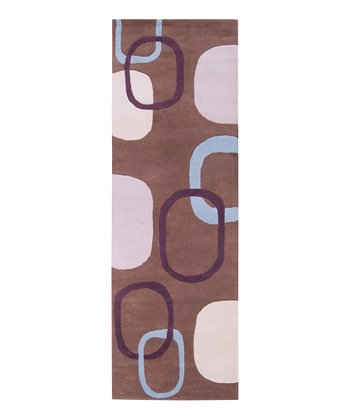 Chocolate & Plum Stella Smith Wool Rug