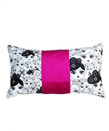 Fuchsia Nigiri Throw Pillow
