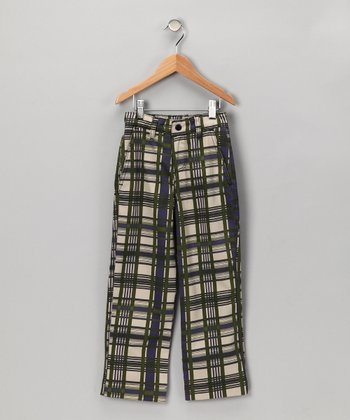 Rhino Plaid Organic Pants - Toddler & Boys