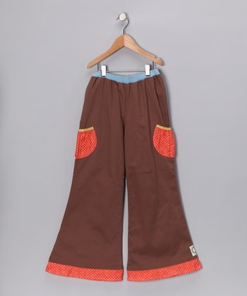 Cocoa & Coral Cargo Pants - Girls