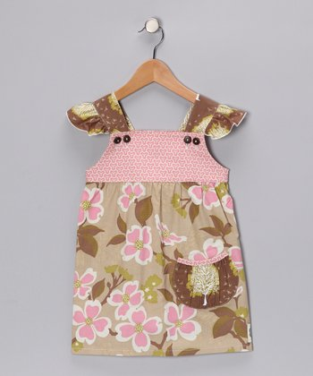 Treetop Fancy Flutter Dress - Toddler & Girls