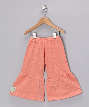 Peachy Keen Floral Kayla's Comfy Ruffle Pants - Infant & Girls