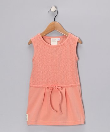 Pink Daphne's Darling Drawstring Dress - Girls