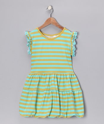 Lime Sherbert Stripe Bubble Dress - Infant & Girls