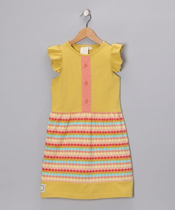 Rainbow Sherbert Festive Flutter Dress - Toddler & Girls