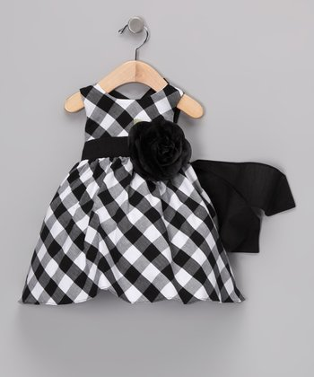 Black & White Gingham Dress - Infant, Toddler & Girls
