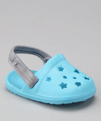 Light Blue Star Cutout Clog