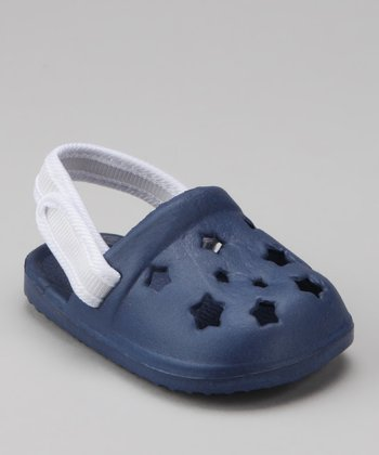 Navy Star Cutout Clog