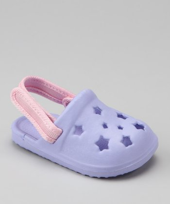 Purple Star Cutout Clog
