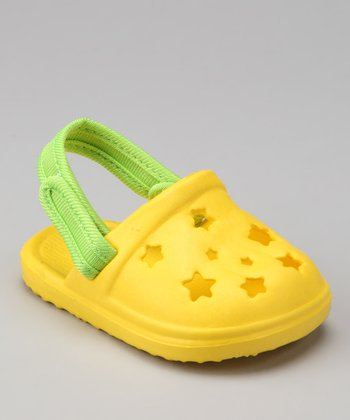 Yellow Star Cutout Clog