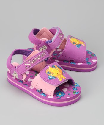 Hot Pink 'Sweet' Hippo Sandal