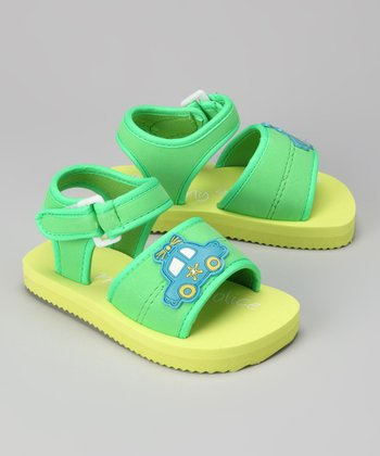 Green Police Car Sandal