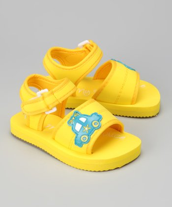Yellow Police Car Sandal