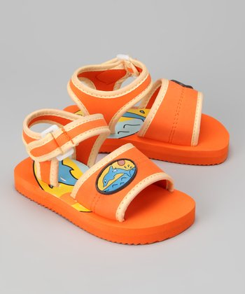 Orange Dolphin Sandal