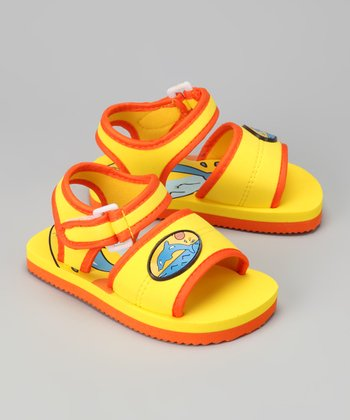 Yellow Dolphin Sandal