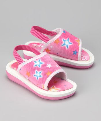 Pink & Orange Star Sandal