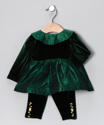 Sweet Baby Jane Green Dress & Leggings - Infant