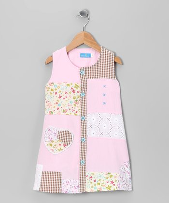Pink Heart Patch Dress - Infant & Toddler