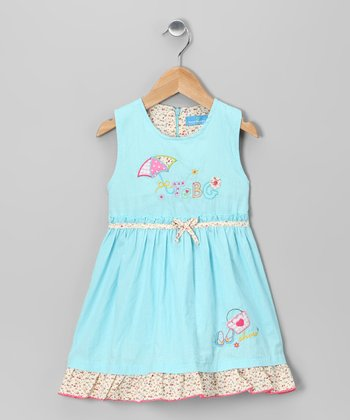Blue Umbrella Dress - Infant