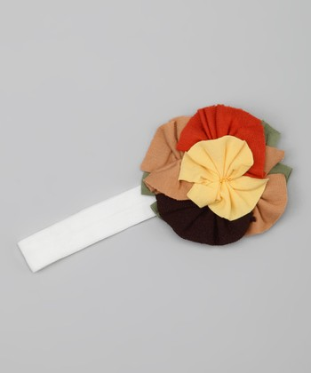 Rust & Yellow Flower Headband