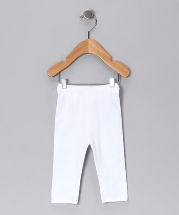 Sweet Cottons White Gamuza Pants - Infant
