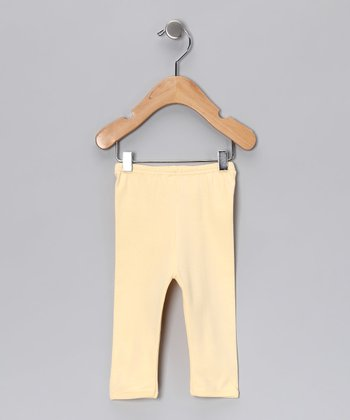 Sweet Cottons Yellow Gamuza Pants - Infant