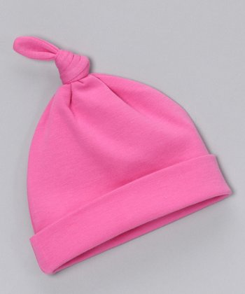 Sweet Cottons Hot Pink Single-Knot Beanie