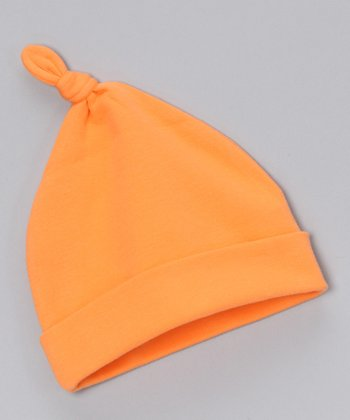 Sweet Cottons Orange Single-Knot Beanie