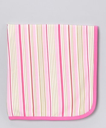 Sweet Cottons Pink & Cream Stripe Blanket