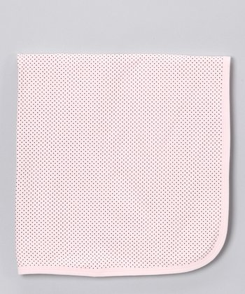 Sweet Cottons Pink & Brown Polka Dot Blanket