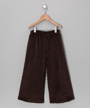 Sweet Funky Vintage Brown Minky Whitney Pants - Toddler & Kids