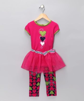 Pink Hearts Tutu Set - Toddler & Girls