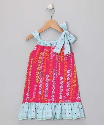 Pink & Blue Ezme Dress - Infant, Toddler & Girls