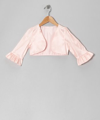 Pink Dupioni Bolero - Toddler & Girls