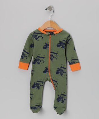 Moab & Orange Jeep Organic Footie - Infant