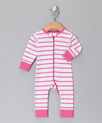 Pink Marseille Stripe Organic Playsuit