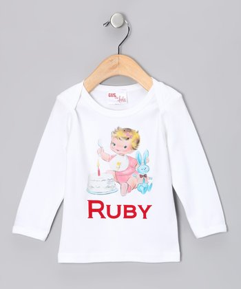 White First Birthday Personalized Tee - Infant