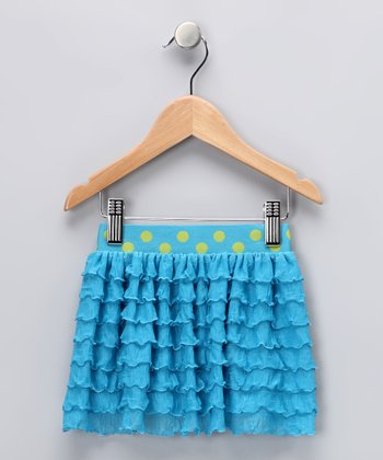 Turquoise Avery Ruffle Skirt - Toddler & Girls