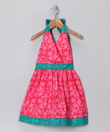 Fuchsia Sakura Halter Dress - Infant & Toddler