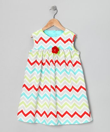 Red & Blue Eliza Dress - Infant, Toddler & Girls