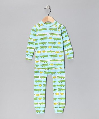 Green Lator Gator Pajama Set - Infant & Toddler