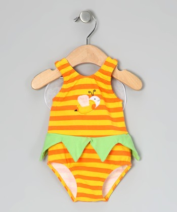 Yellow Bee One-Piece - Infant & Toddler