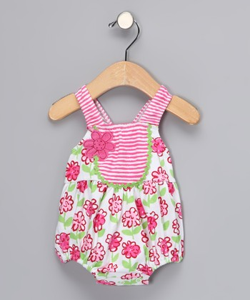 Pink Posy Bubble One-Piece - Toddler