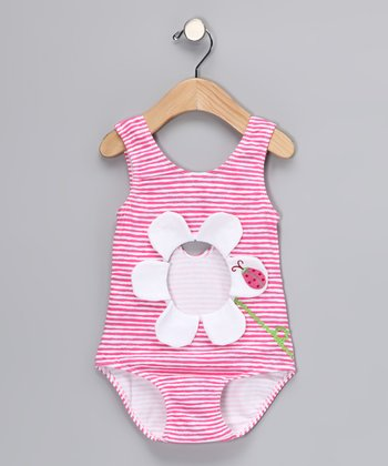 Pink Cutout One-Piece - Toddler