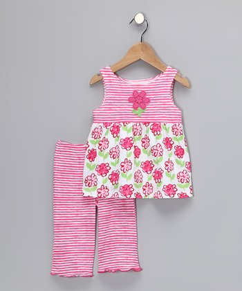 Pink Posy Babydoll Top & Pants - Toddler & Girls